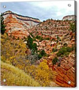 View Along East Side Of Zion-mount Carmel Highway In Zion National Park-utah   Acrylic Print