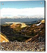 View From The Top Acrylic Print by Claudette Bujold-Poirier