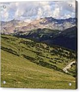 view from the Trail Ridge Road. Acrylic Print