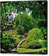 View Of A Japanese Garden Acrylic Print