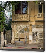 View Of Shops On The Street, Allenby Acrylic Print