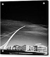 View Of The Samuel Beckett Bridge Over The River Liffey Dublin Republic Of Ireland Acrylic Print