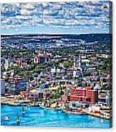 View Of The St. John's Newfoundland From Signal Hill Acrylic Print