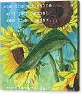 Vince's Sunflowers 1 Acrylic Print