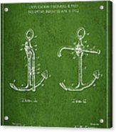 Vintage Anchor Patent Drawing From 1902 Acrylic Print