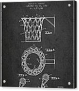 Vintage Basketball Goal Patent From 1951 Acrylic Print