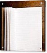 Vintage Blank Notepad Acrylic Print