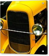 Vintage Car Yellow Detail Acrylic Print