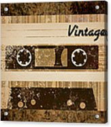 Vintage Cassette Acrylic Print by Sara Ponte