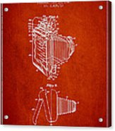 Vintage Film Camera Patent From 1948 Acrylic Print by Aged Pixel