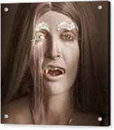 Vintage Halloween Portrait. Gothic Vampire Girl Acrylic Print