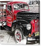 Vintage International Truck Acrylic Print by Douglas Barnard