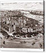 Vintage New York 1903 Acrylic Print