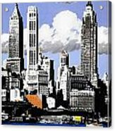 Vintage New York Travel Poster Acrylic Print