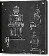 Vintage Toy Robot Patent Drawing From 1955 Acrylic Print