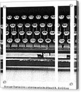 Vintage Typewriter Acrylic Print