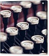 Vintage Typewriter Keys Acrylic Print