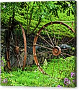 Vintage Wagon Wheel Gate Acrylic Print