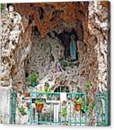 Virgin Mary Grotto Acrylic Print