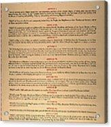 Virginia Constitution, 1776 Acrylic Print