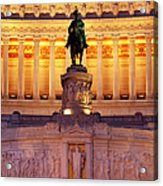 Vittorio Emanuele - Rome Acrylic Print