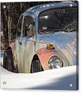 Volkswagen Beetle Acrylic Print by Jennifer Kimberly