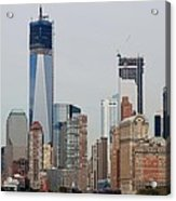 1 W T C And Lower Manhattan Acrylic Print