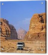 Wadi Rum In Jordan Acrylic Print by Robert Preston