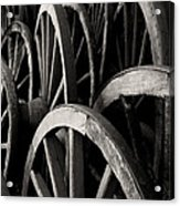 Wagon Wheels Acrylic Print by John Nelson