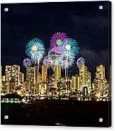 Waikiki Fireworks Celebration 11 Acrylic Print