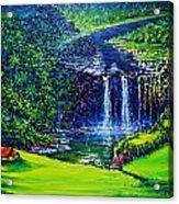 Waimea Falls  Acrylic Print by Joseph   Ruff