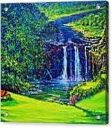 Waimea Falls L  Acrylic Print