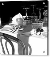 Waiting For Diners Bw Acrylic Print