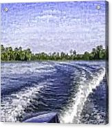 Wake From The Wash Of An Outboard Motor Acrylic Print
