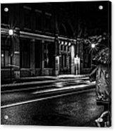 Walking In The Rain   Acrylic Print by Bob Orsillo