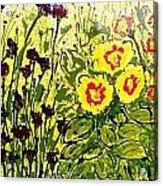 Walls Of Heavenly Flowers Acrylic Print