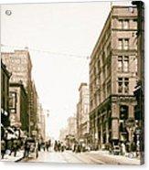 Walnut Street - Kansas City 1906 Acrylic Print