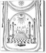 Washington Masonic Apron Acrylic Print