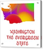 Washington State Map Collection 2 Acrylic Print