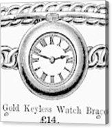 Watch Bracelet, 1891 Acrylic Print