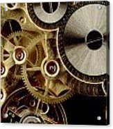 Watch Mechanism. Close-up Acrylic Print