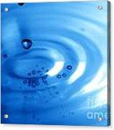 Water Drops Acrylic Print by Michal Bednarek