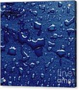 Water Drops On Metallic Surface Acrylic Print