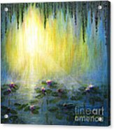 Water Lilies At Sunrise Acrylic Print