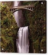 Waterfall In A Forest, Multnomah Falls Acrylic Print