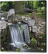 waterfall in park Klarenbeek in Arnhem Netherlands Acrylic Print
