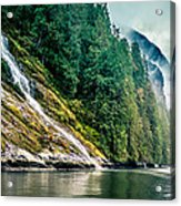 Waterfall Jervis Inlet Acrylic Print