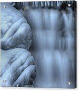 Waterfall Near Johnston Canyon Alberta Acrylic Print