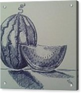 Watermelon Acrylic Print by Emese Varga