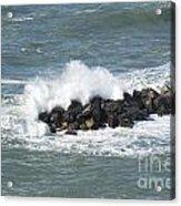 Wave On The Rocks Acrylic Print